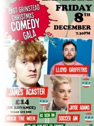 East Grinstead Christmas Comedy Gala at Chequer Mead, East Grinstead